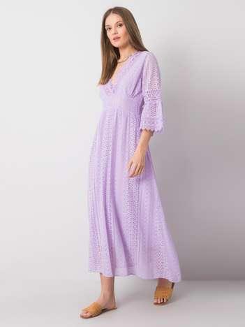 Fioletowa sukienka koronkowa Sharon