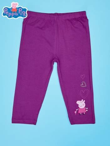 Fioletowe legginsy dla dziewczynki nadruk ŚWINKA PEPPA