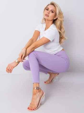 Fioletowe legginsy prążkowane Vesper