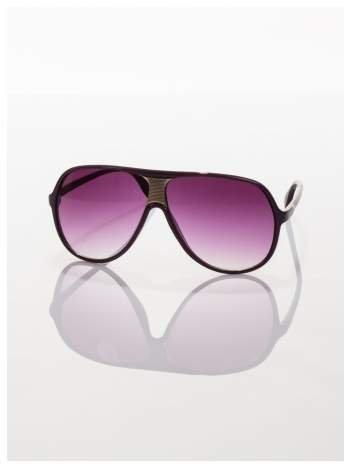 Fioletowe przeciwsłoneczne okulary typu beckhamki
