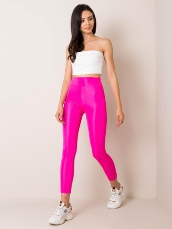 Fluo różowe legginsy Funky RUE PARIS