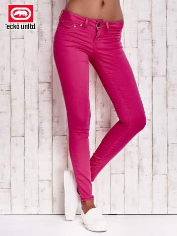 Fuksjowe spodnie z napami