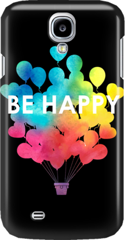 Funny Case ETUI SAMSUNG S4 BE HAPPY