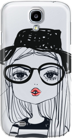 Funny Case ETUI SAMSUNG S4 GIRL WITH PINK LIPS
