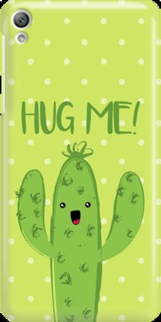 Funny Case ETUI SONY XPERIA E5 CACTUS HUG ME