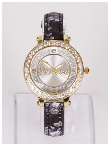GENEVA Damski zegarek z ozdobnymI cyrkoniami na kopercie