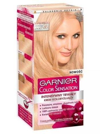Garnier Color Sensation Krem koloryzujący do włosów 10.21 Delikatny Perłowy Blond