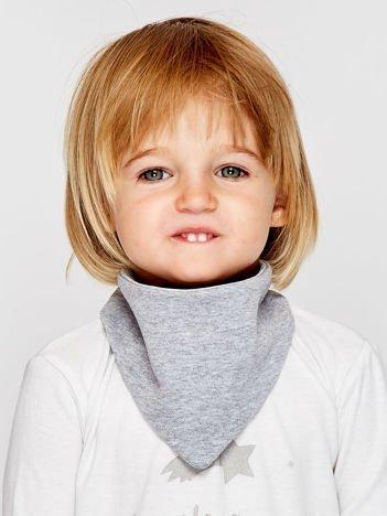 Gładka chustka na rzep dla dziewczynki jasnoszara