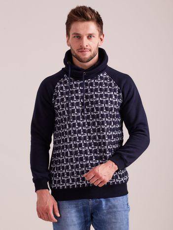 Granatowa bawełniana bluza męska