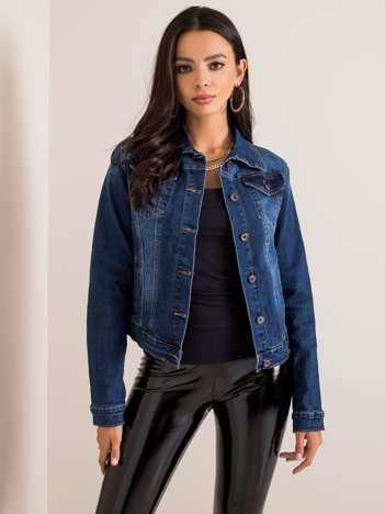 Granatowa kurtka jeansowa Brenda
