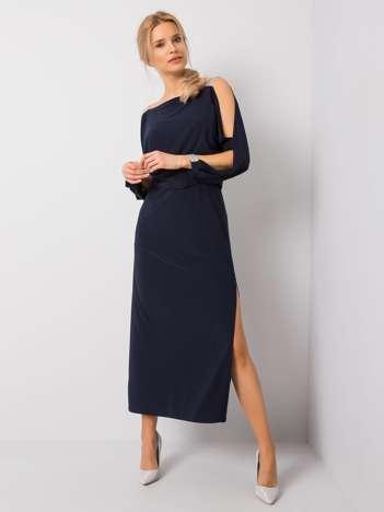 Granatowa sukienka Claire