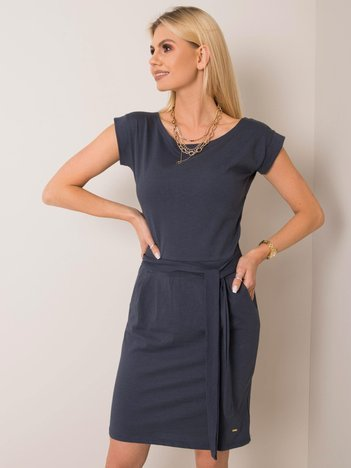 Granatowa sukienka Letitia NIE ZNASZ MNIE