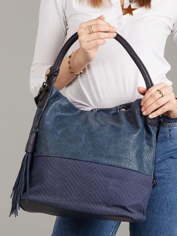 Granatowa torba z ekologicznej skóry