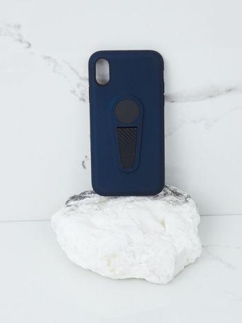 Granatowe etui na iPhone X