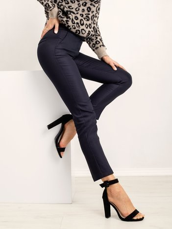 Granatowe spodnie Tripping