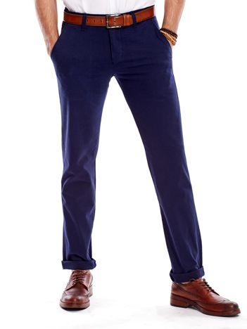 Granatowe spodnie męskie regular
