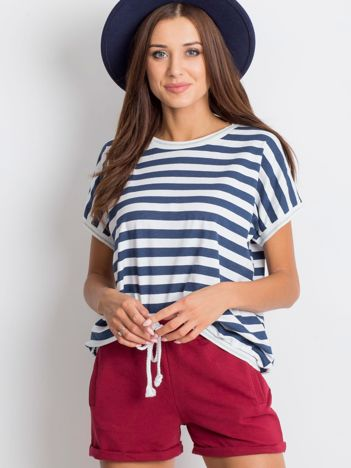 Granatowo-biały t-shirt Ultimate