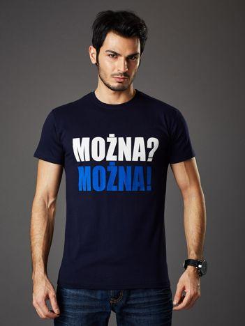 Granatowy t-shirt męski MOŻNA? MOŻNA!