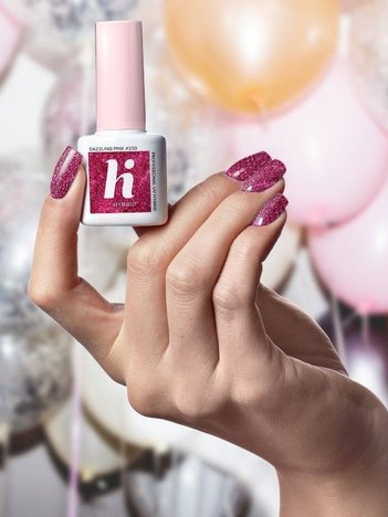 Hi Hybrid Lakier hybrydowy Sparkle #230 Dazzling Pink 5ml