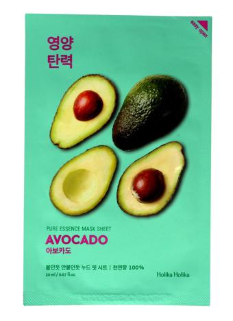 "Holika Holika Pure Essence Mask Sheet-Avocado  1szt"""