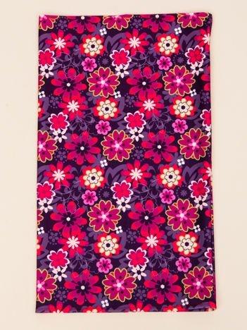INCA Komin fioletowy w kwiaty