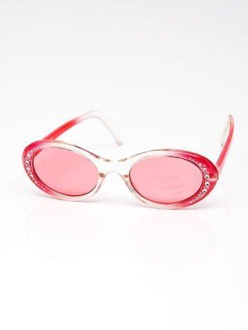INCA Okulary dziecięce czerwone z cyrkoniami