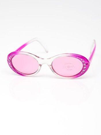 INCA Okulary dziecięce różowe z cyrkoniami