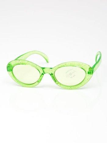 INCA Okulary dziecięce zielone z brokatem
