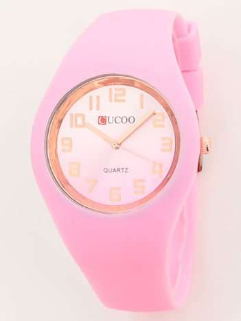 JELLY Zegarek damski na silikonowym wygodnym pasku różowy