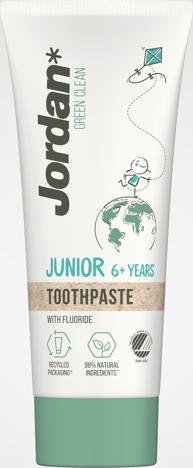 "JORDAN Green Clean Junior Pasta do zębów dla dzieci 6+  50ml"""