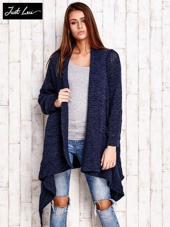 JUST LOU Granatowy otwarty sweter