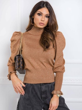 Jasnobrązowy sweter Rebecca