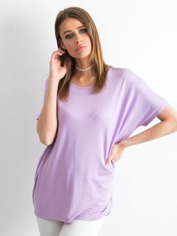 Jasnofioletowa bluzka Oversize