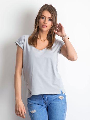 Jasnografitowy t-shirt Vibes