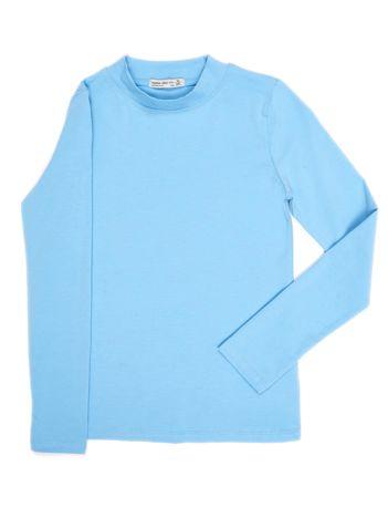 Jasnoniebieska bluzka dziecięca z półgolfem