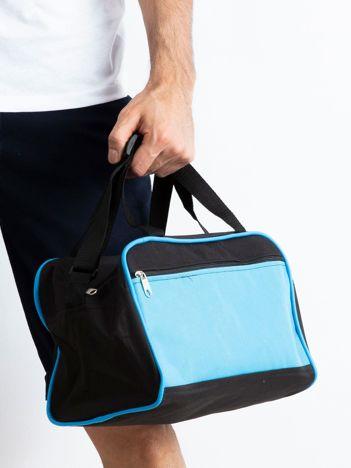 Jasnoniebieska męska torba na ramię