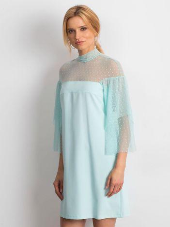 Jasnoniebieska sukienka Modern