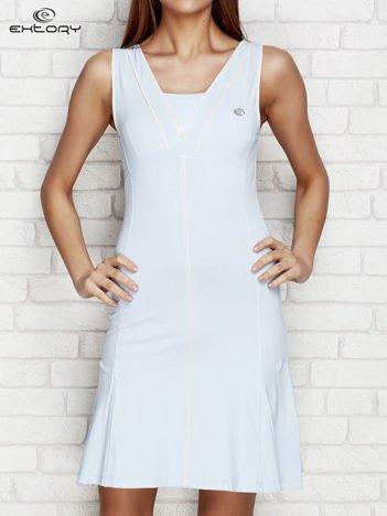 Jasnoniebieska sukienka sportowa z siateczkową wstawką
