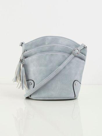 Jasnoniebieska torebka z suwakami