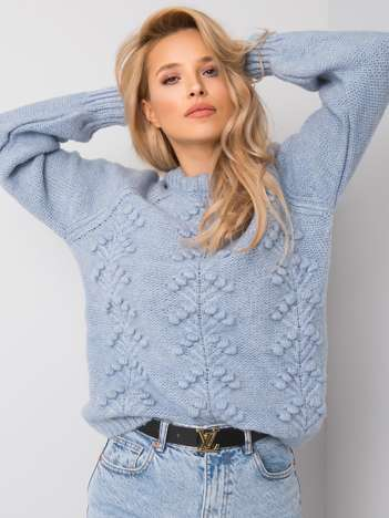 Jasnoniebieski sweter Willow RUE PARIS