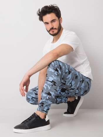 Jasnoniebieskie męskie spodnie moro Jaxon
