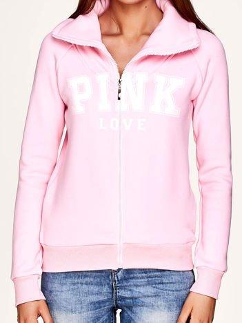Jasnoróżowa bluza z napisem PINK LOVE