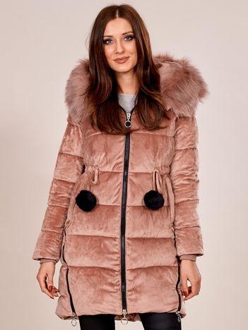 Jasnoróżowa kurtka zimowa