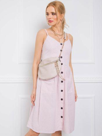 Jasnoróżowa sukienka Buenos RUE PARIS