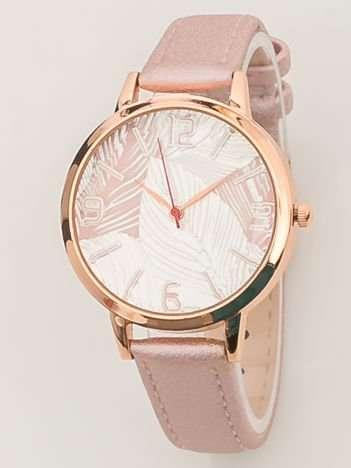 Jasnoróżowy perłowy zegarek damski