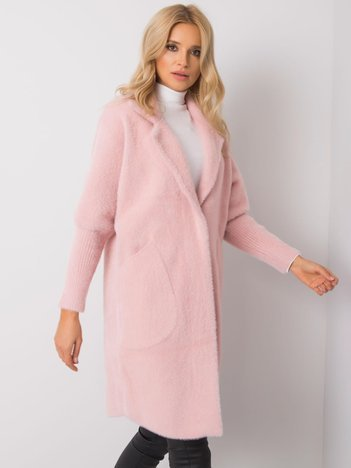 Jasnoróżowy płaszcz alpaka Eveline