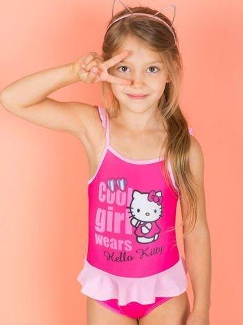 Jasnoróżowy strój kąpielowy dla dziewczynki HELLO KITTY