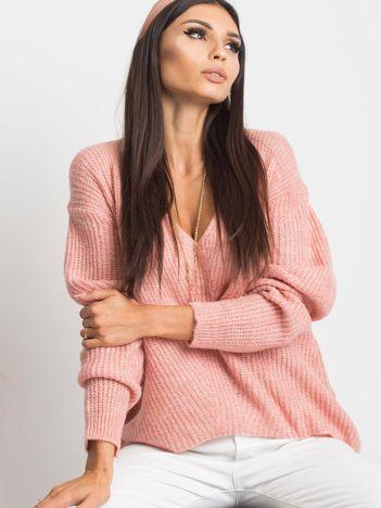 Jasnoróżowy sweter Touch