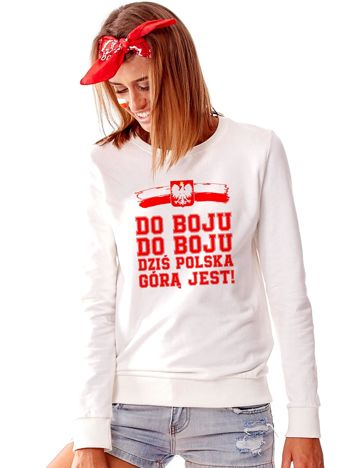 Jasnoszara bluza dla kibica DO BOJU
