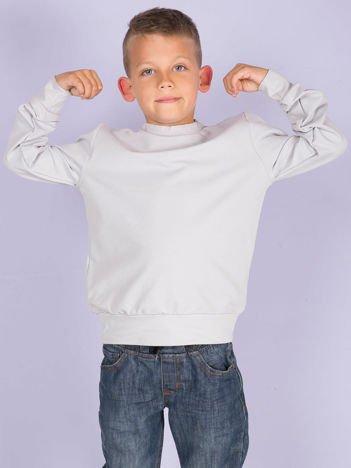 Jasnoszara bluza młodzieżowa